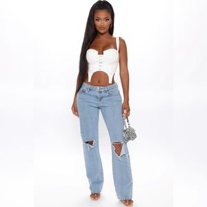 Fashion nova Go All Cut Out Slouch Fit Jeans